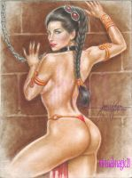 SLAVE PRINCESS LEIA art by JUN DE FELIPE by rodelsm21