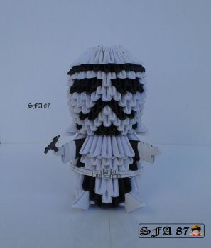 Stormtrooper  Origami 3d by Sfa87