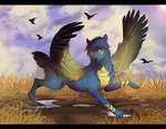 Running with ravens by LuckyPaw
