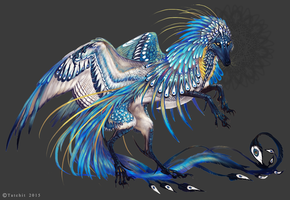 Florescent Blue Aragonite Feonix by Tatchit