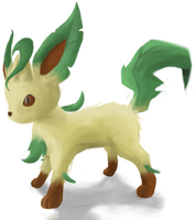 Leafeon by Zaemii