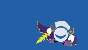 Minimalist Wallpaper - Meta Knight (Kirby - SSBB) by FlameBlazeGX