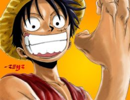 monkey d luffy colored by reijr