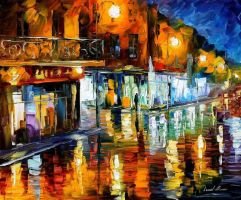 In the city by Leonid Afremov by Leonidafremov