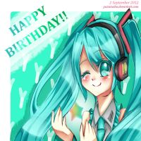 Happy Birthday Miku!! by YuzuruSho
