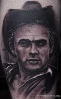 Jemes dean portrait tattoo by Remistattoo