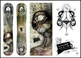 commission snowboard design by SquareFrogDesigns