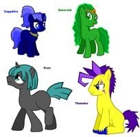 Themed adoptables 9-12 (CLOSED) by BronyBase