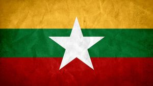 Myanmar Grunge Flag by SyNDiKaTa-NP