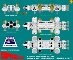 Gerry Andersons Space 1999 Eagle Transporter 4 of  by ArthurTwosheds
