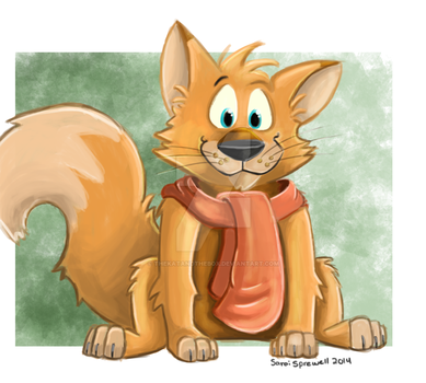 A little fox by theKatandtheBox