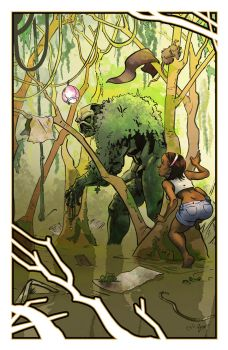 Swamp Thing 2012 Con Print by chrisbeaver