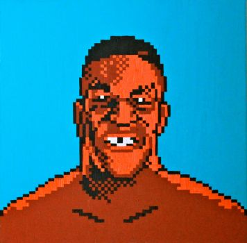 Mike Tyson Pixel Painting by RubiksPhoenix