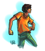Percy Jackson Colour Experiment by lazy-perfs