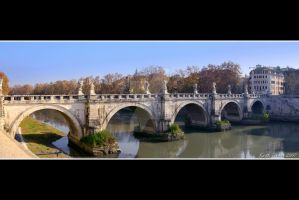 St Angelo Bridge Rome by Keith-Killer
