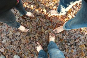 Winter barefoot walk by PhilsPictures