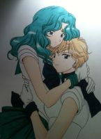 ~Never Let Go~ Michiru and Haruka by Fang-Vanille