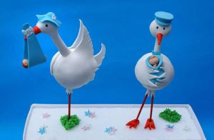Stork Figurines by Verusca
