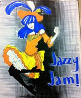 Jazzy Jam - Toulouse Lautrec Style by Xaiyu
