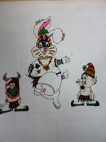 Voodoo Easter bunny and cannibal elves. by MaskedRascal