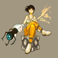 Chell looks evil in this pic by xiaojin67