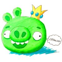 Highlight pens Crown Pig by RiverKpocc