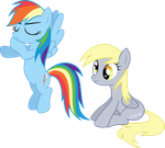 Dash And Derpy - Just Sit There And Do Nothing by strawberrythefox1452