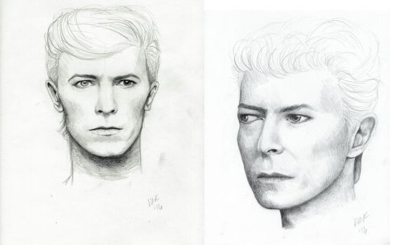 Bowie Sketches by MilesofCrochet