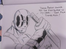 Dead Pool commission 1 by DamageArts