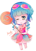 Gumi (Vocaloid) Candy Candy Chibi by KyouKaraa