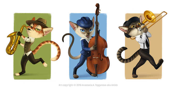 Jazz cats by Anisis