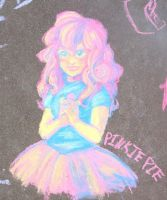 Chalk Pinkie Pie by Rixari