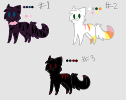 Cat Adoptables - OPEN by NicoleFrost