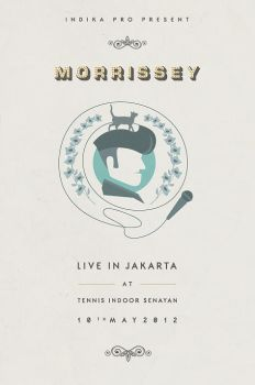 Morrisey Live in JKT - unofficial poster by phig