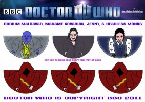 Doctor Who - Headless Monks by mikedaws