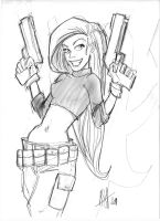 Kim possible sketch by scarecrowhassan