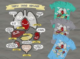 Know Your Organs T-Shirt by Wavebreak