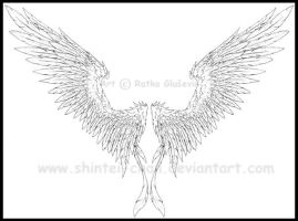 Feathered Angel Wings by Shintei-chan