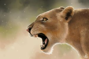 The Lioness by junfender