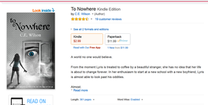 TO NOWHERE IS AVAILABLE ON PAPERBACK!! by cewilson5