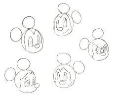 Mickey Mouse Expressions by CookieCruise