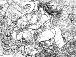 Powergirl vs She Hulk 02 by toegar