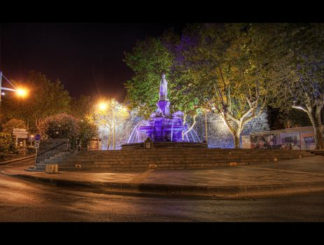 Purple Fountain by b-82-photography