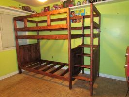 Bunk Bed with Stairs 2 by Lupas-Deva