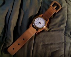 Wooden Watch by Chick-with-a-pencil