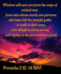 Proverbs 2:12-14 (NIV) by ChristCentric
