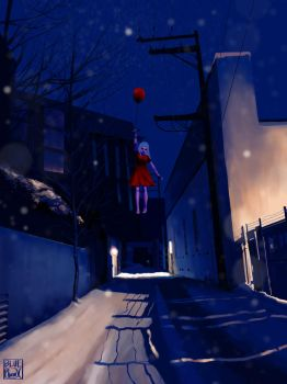 snowy alleyway by Blue-F-Phoenix