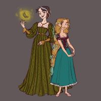 Punzel And Gothel Redesign by djeffers123