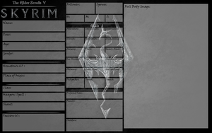 Skyrim Character Sheet Template by MisbegottenMisfit