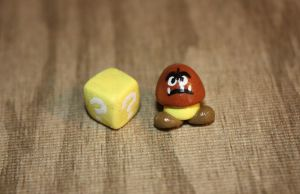 Goomba and a ? Block by Aluciel286